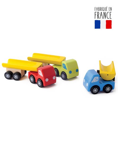 jouets bois camions benne