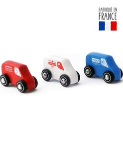 jouet bois camion police camion pompier ambulance
