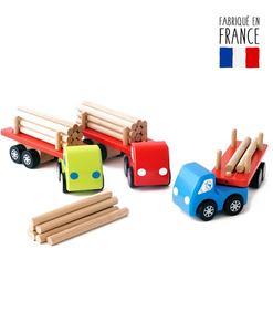 jouet bois camions grumier qualijouet