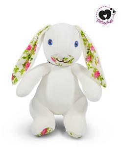 doudou lapin beige fleurs m peluches