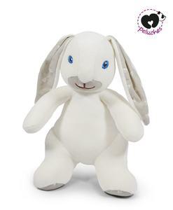 Peluche Doudou rond lapin gris - M peluches - Qualijouet