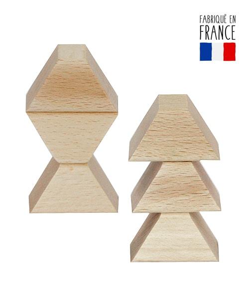 Jeu de construction en bois magik brique qualijouet for Construction cube bois