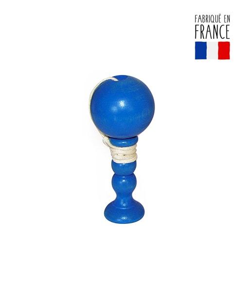 jouet bois bilboquet bleu