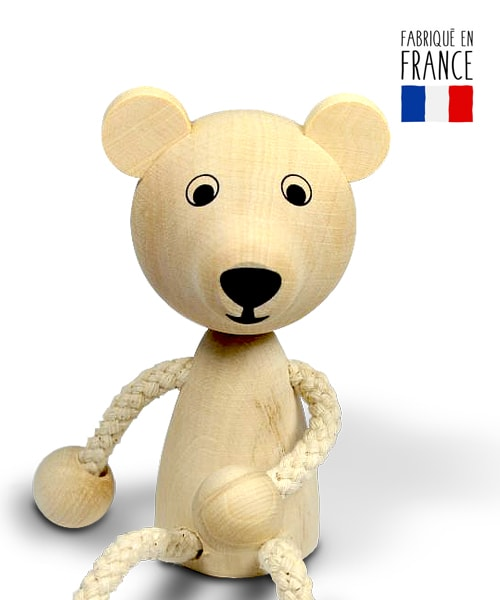 jouet bois ours pantin qualijouet