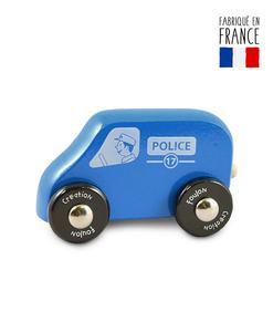 jouet bois voiture police qualijouet