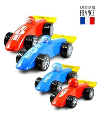voitures jouets bois formule 1