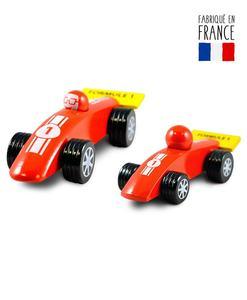 voitures jouets bois formule 1 rouge