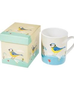 Mug en porcelaine représente un très belle mésange bleue - Qualijouet