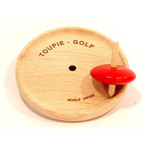 Jeu de la Toupie golf en bois de hêtre massif - Qualijouet