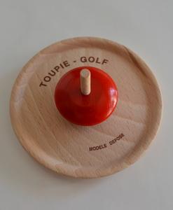 Jeu de la Toupie golf en bois de hêtre massif (détail) - Qualijouet