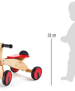 Porteur en bois Draisienne 4 roues bolide (détail) - Qualijouet