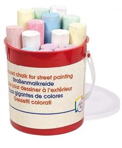 Craies de couleurs pour dessiner sur le trottoir - Qualijouet