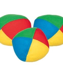 3 balles de jonglage en tissu - Qualijouet