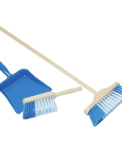 Set de nettoyage (bleu) - Pelle balai Brosse - Qualijouet