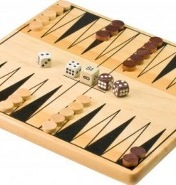 Jeu de Backgammon en bois - Qualijouet