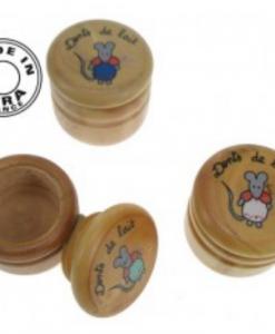 Boite à dents de lait buis massif décor souris - Qualijouet