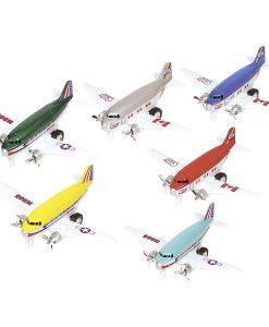 Avions à rétrofriction - 6 couleurs au choix - Qualijouet