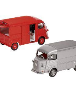 Miniature Citroën type HY rouge ou gris échelle 1:24 - Qualijouet