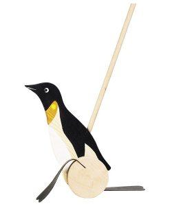Pingouin à pousser en bois - Qualijouet