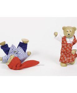 Ours en bois avec garde-robe (détail) - Qualijouet