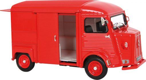 Miniature Citroën type HY rouge échelle 1:24 (détail) - Qualijouet