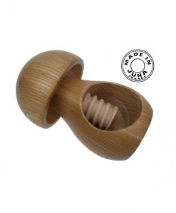 Casse noix en bois et à la forme de champignon - Qualijouet