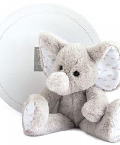 Peluche éléphant gris 25 cm - Qualijouet