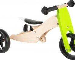 Tricycle et draisienne en bois 2 en 1 - Qualijouet