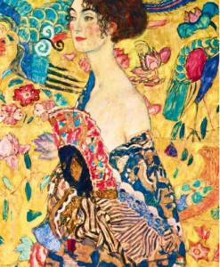 Puzzle Gustave Klimt - Lady with fan 1918 (détail) - Qualijouet