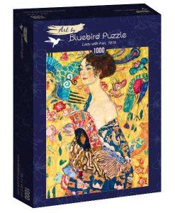 Puzzle Gustave Klimt - Lady with fan 1918 1000 pièces - Qualijouet