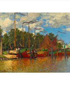 Claude Monet - Boats at Zaandam, 1871 - Qualijouet