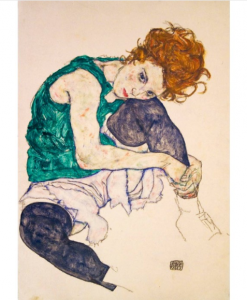 Egon Schiele - Seated Woman with Legs Drawn Up, 1917