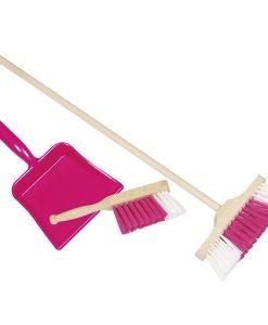 Set de nettoyage (rouge) - Pelle balai Brosse - Qualijouet