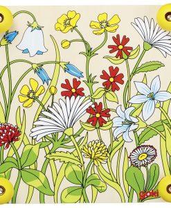 """Presse-Fleurs en Bois et Carton motif """"Prairie"""" (détail) - Qualijouet"""