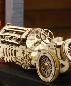 kit de construction puzzle 3D Bolide U9 grand prix en bois - Qualijouet