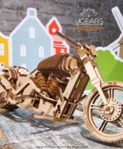 kit de construction puzzle 3D moto en bois - Qualijouet