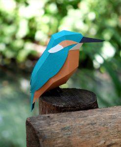 Martin-Pêcheur Origami (vue de coté) - Qualijouet
