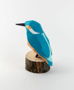 Martin-Pêcheur Origami (vue de dos) - Qualijouet