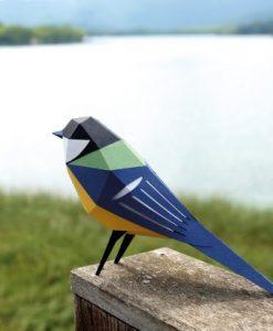 La mésange charbonnière Origami (vue dos) - Qualijouet