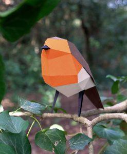 Le Rouge-Gorge Origami (vue face) - Qualijouet