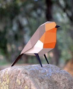Le Rouge-Gorge Origami (vue coté) - Qualijouet